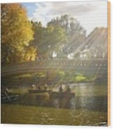 Sunlight And Boats - Central Park -  New York City Wood Print