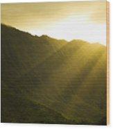 Sunlight Over Kualoa Ranch Wood Print