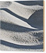 Sunlight Rhythms In Winter Dunes Wood Print