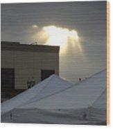 Sunlight Shooting Through Clouds Wood Print