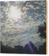 Sunlight- Ultra-violet Wood Print
