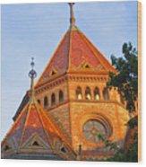 Sunlit Church Aglow Wood Print