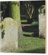 Sunlit Churchyard Wood Print