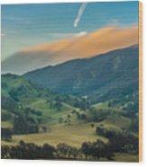 Sunlit Clouds On A Ridge Wood Print