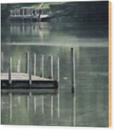 Sunlit Dock Wood Print
