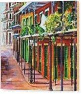 Sunlit New Orleans Wood Print
