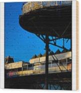 Sunlit Pier Wood Print