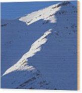 Sunlit Ridge Wood Print