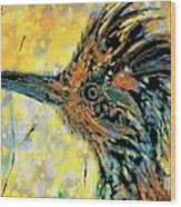 Sunlit Roadrunner Wood Print
