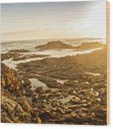 Sunlit Seaside Wood Print