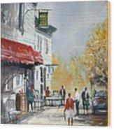 Sunlit Sidewalk - Neshkoro Wood Print