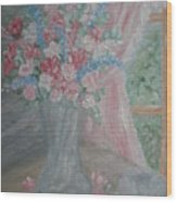 Sunlit Window II Wood Print