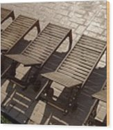 Sunning Chairs Wood Print