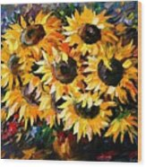 Sunny Bouquet Wood Print