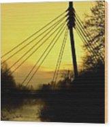 Sunny Bridge Wood Print