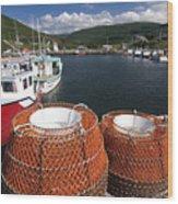 Sunny Cape Breton Harbor Wood Print