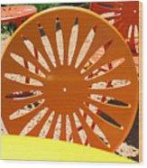 Sunny Chairs 4 Wood Print