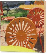 Sunny Chairs 5 Wood Print