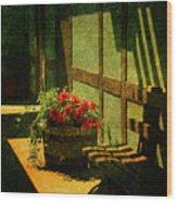 Sunny Corner Wood Print