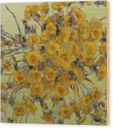 Sunny Dandelions Wood Print