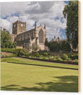 Sunny Day At Hexham Abbey Wood Print
