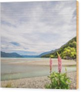 Sunny Day At Kinloch Wharf In New Zealand Wood Print
