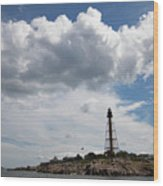 Sunny Day At Marblehead Lighthouse Wood Print
