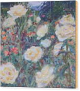 Sunny Day At The Rose Garden Wood Print