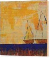 Sunny Day Sail Wood Print
