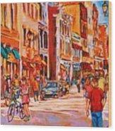 Sunny Downtown  Wood Print