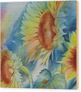 Sunny Flowers I Wood Print