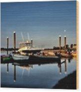 Sunny Morning At Onset Pier Wood Print