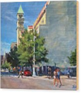 Summer Morning Near St. Michael's Church, Amsterdam Ave. Wood Print