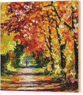 Sunny Path Wood Print