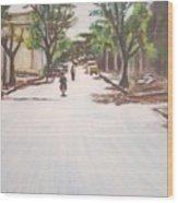 Sunny Road Wood Print