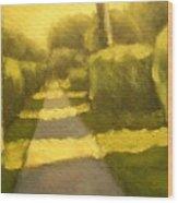 Sunny Sidewalk Wood Print