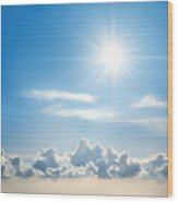 Sunny Sky Wood Print