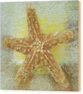 Sunny Star Wood Print