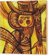 Sunny Warrior Wood Print