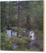 Sunny Woods Wood Print