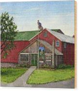 Sunnycrest Farm Wood Print