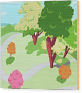 Sunnyside Park In The Spring Wood Print