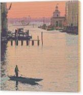 Sunrise - Venice Wood Print
