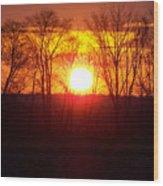 Sunrise 5 1 2009 002c Wood Print