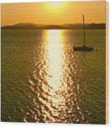 Sunrise 6 8 17 Malletts Bay Wood Print
