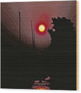 Sunrise 7 Over Lake Michigan  Wood Print