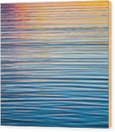 Sunrise Abstract On Calm Waters Wood Print