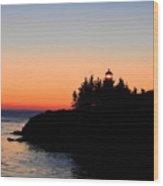 Sunrise Across The Border Wood Print