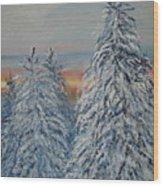 Sunrise After Snow Storm Wood Print