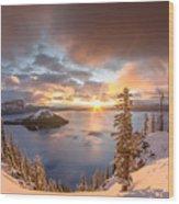 Sunrise After Summer Snowfall Wood Print